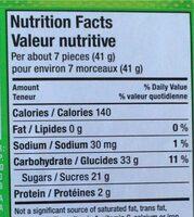 Friandise en Gélatine - Nutrition facts - fr