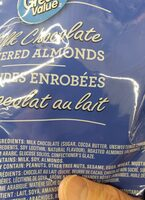Milk Chocolate Almonds - Ingredients - en