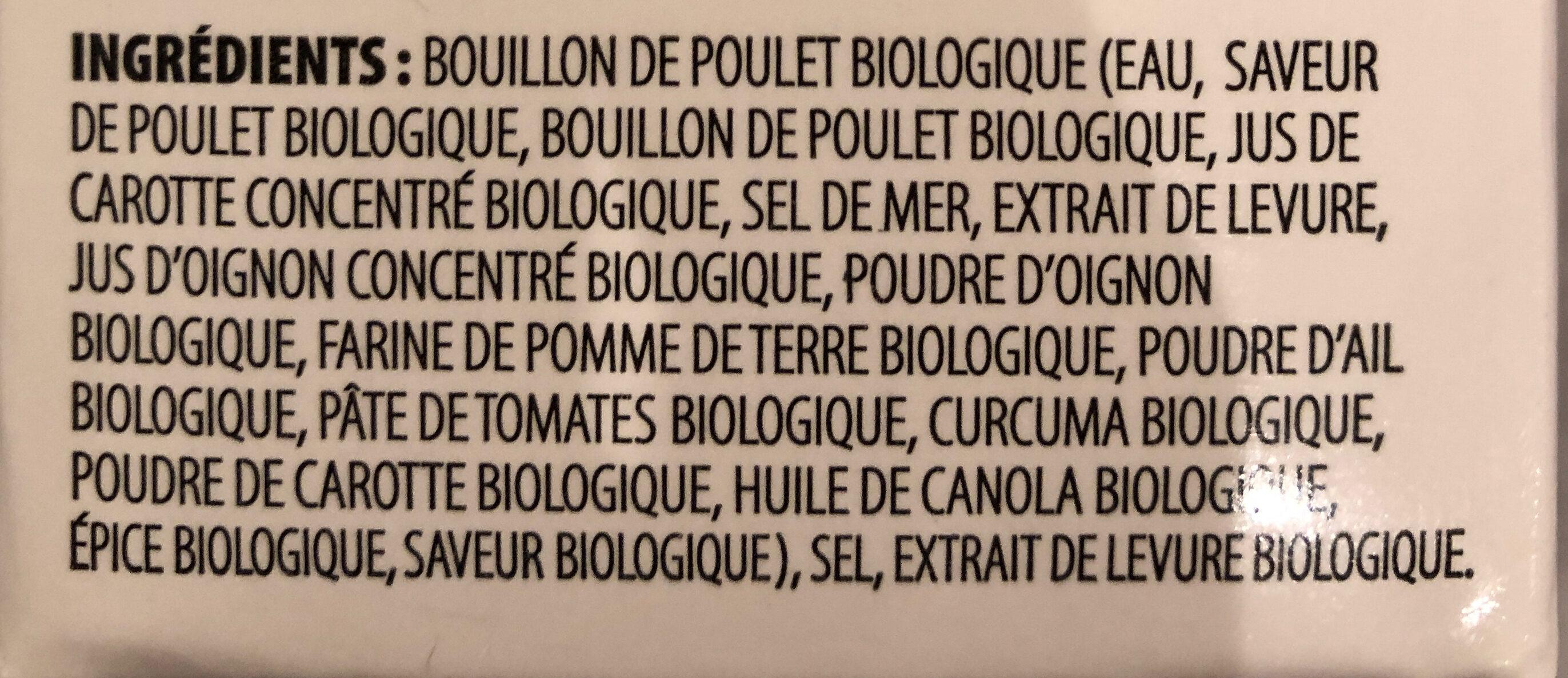 Bouillon de poulet - Ingrédients - fr