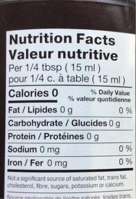 Vinaigre de cidre de pommes - Informations nutritionnelles - fr