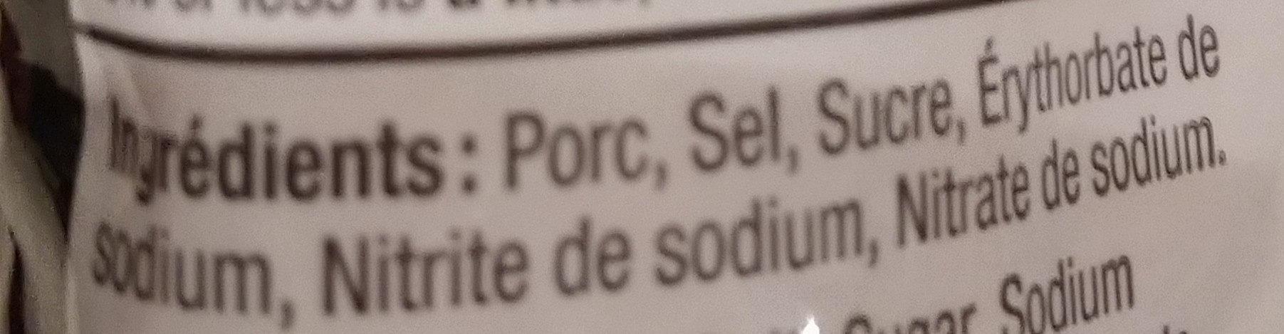 Pancetta cuite originale - Ingrédients - fr