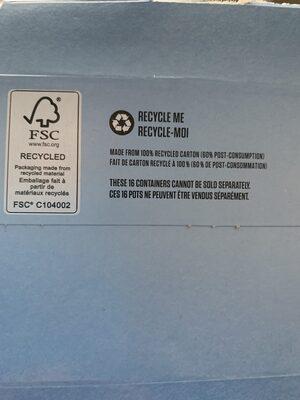 Yogourt Iogo 0% (4 Variétées) - Instruction de recyclage et/ou informations d'emballage - fr