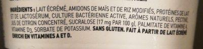 IOG0% Vanille - Ingrédients - fr