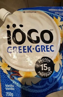 Greek Yogurt Vanilla 2% M. F. - Produit - en