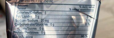 Redbull zero - Nutrition facts - fr