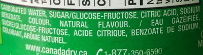 Canada dry - Ingredients