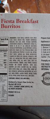 fiesta breakfast burritos - Ingredienti - en