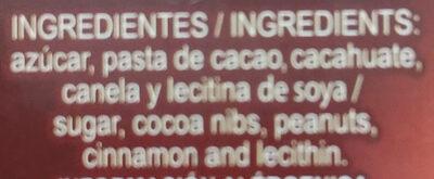 Chocolate para mesa - Ingredientes - es