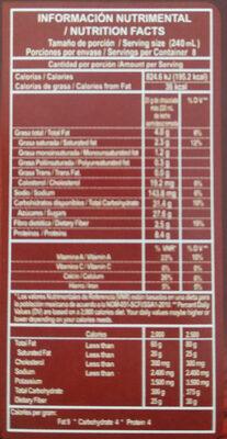 Chocolate para mesa - Información nutricional - es
