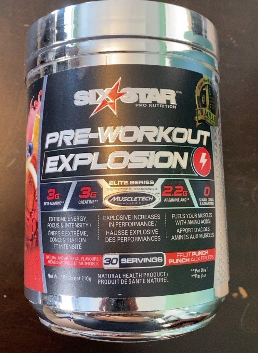 Pre-Workout Explosion Fruit Punch - Produit - fr