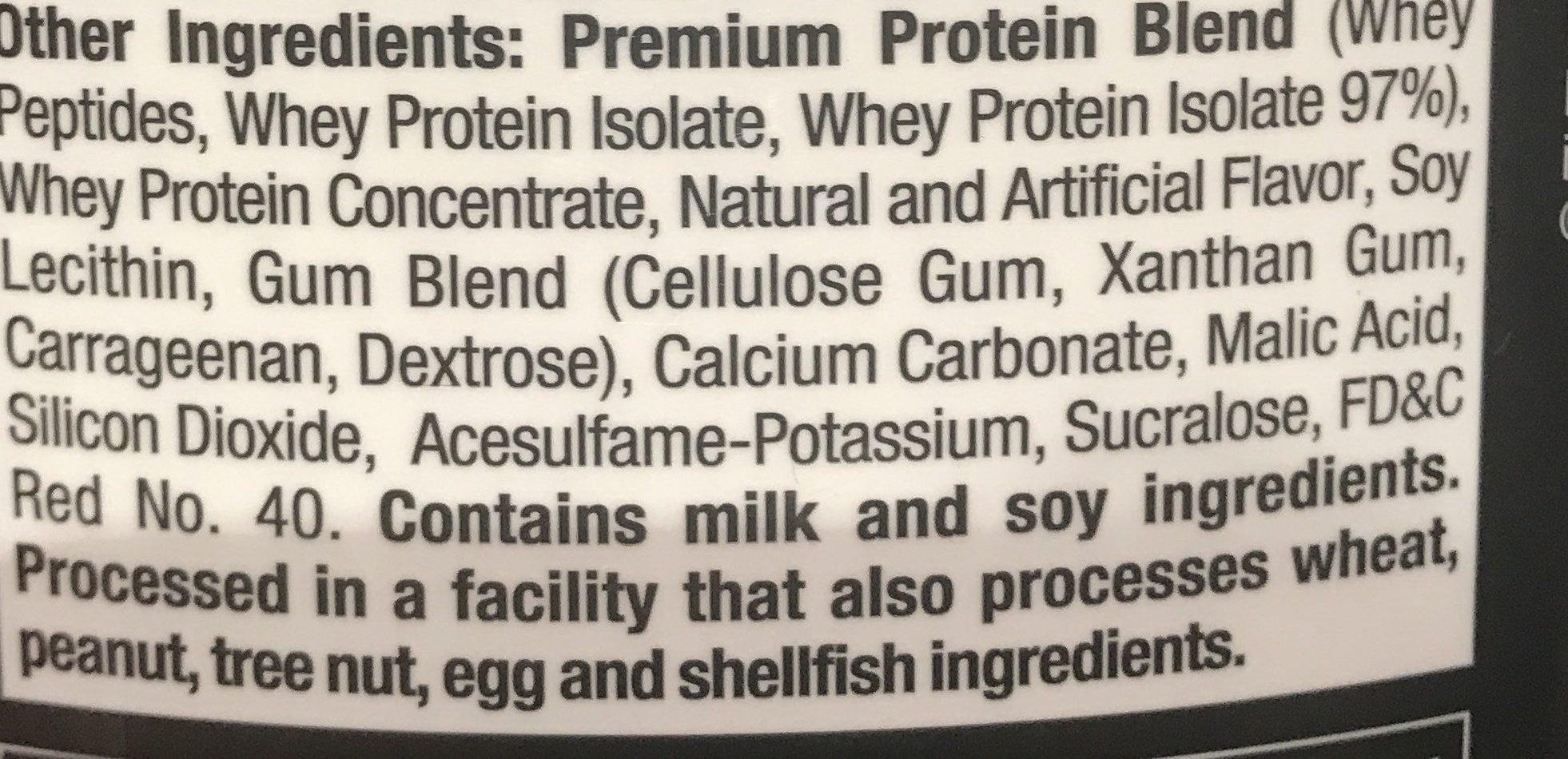 Nitro Tech 100 Whey Gold Strawberry 6 Lb Bonus Size Muscletech Nitrotech Ingredients