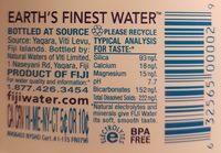Agua Natural Artesanal - Ingredients - en