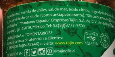 Tajin, clasico seasoning, lime - Ingrédients - fr