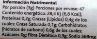 Clasico Seasoning - Nutrition facts