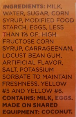 Caramel Flan - Ingredients - en