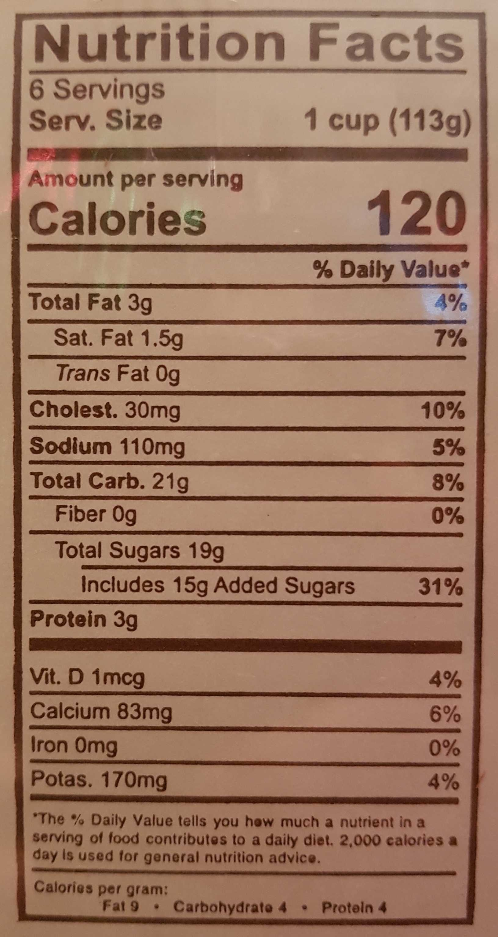 Caramel Flan - Nutrition facts - en
