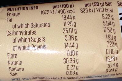 Protein Indulgence Belgian Chocolate Hazelnut - Informations nutritionnelles