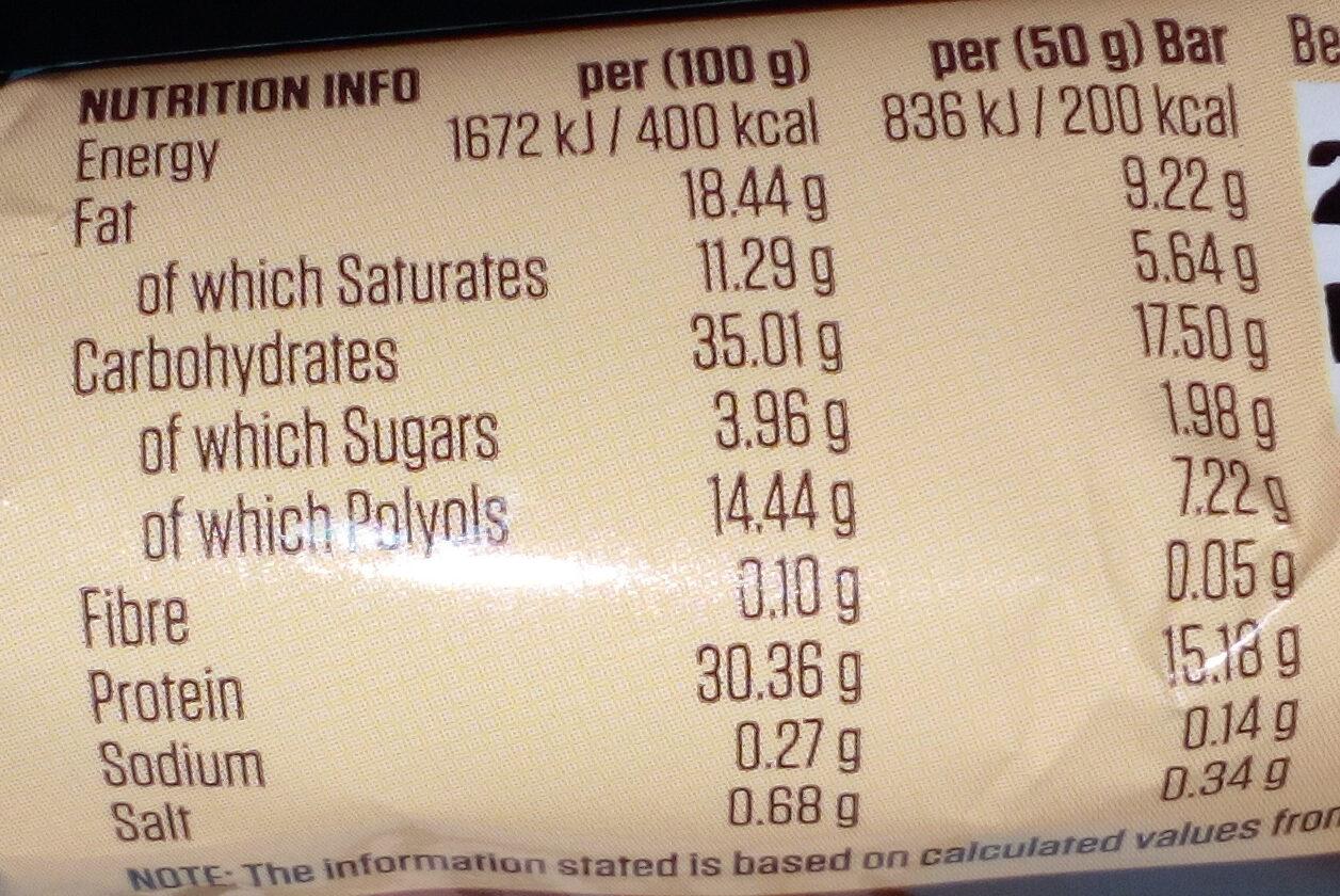 Protein Indulgence Belgian Chocolate Hazelnut - Informations nutritionnelles - en