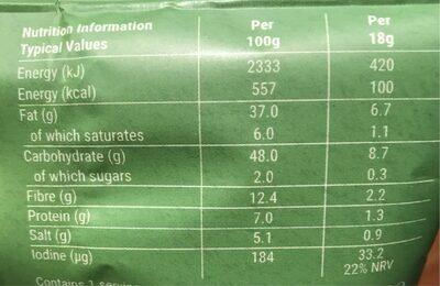 Seaweed crisps - Informations nutritionnelles - en