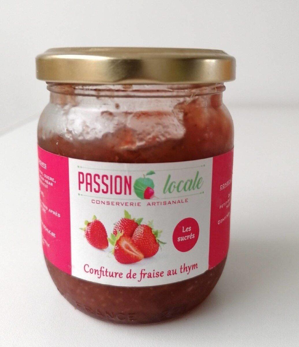 Confiture de fraise au thym - Product - fr
