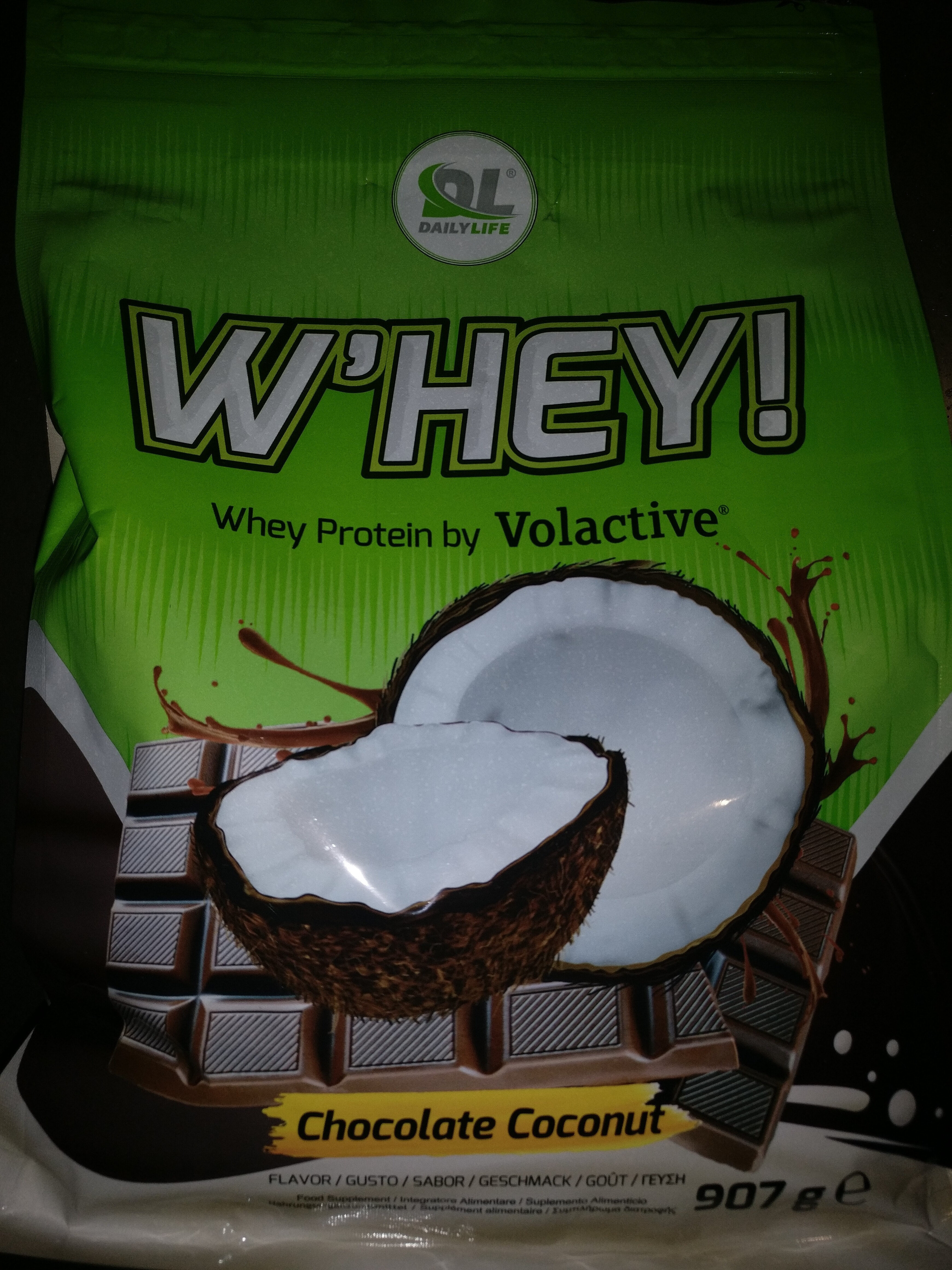 W'hey gusto Chocolate Coconut - Product - it