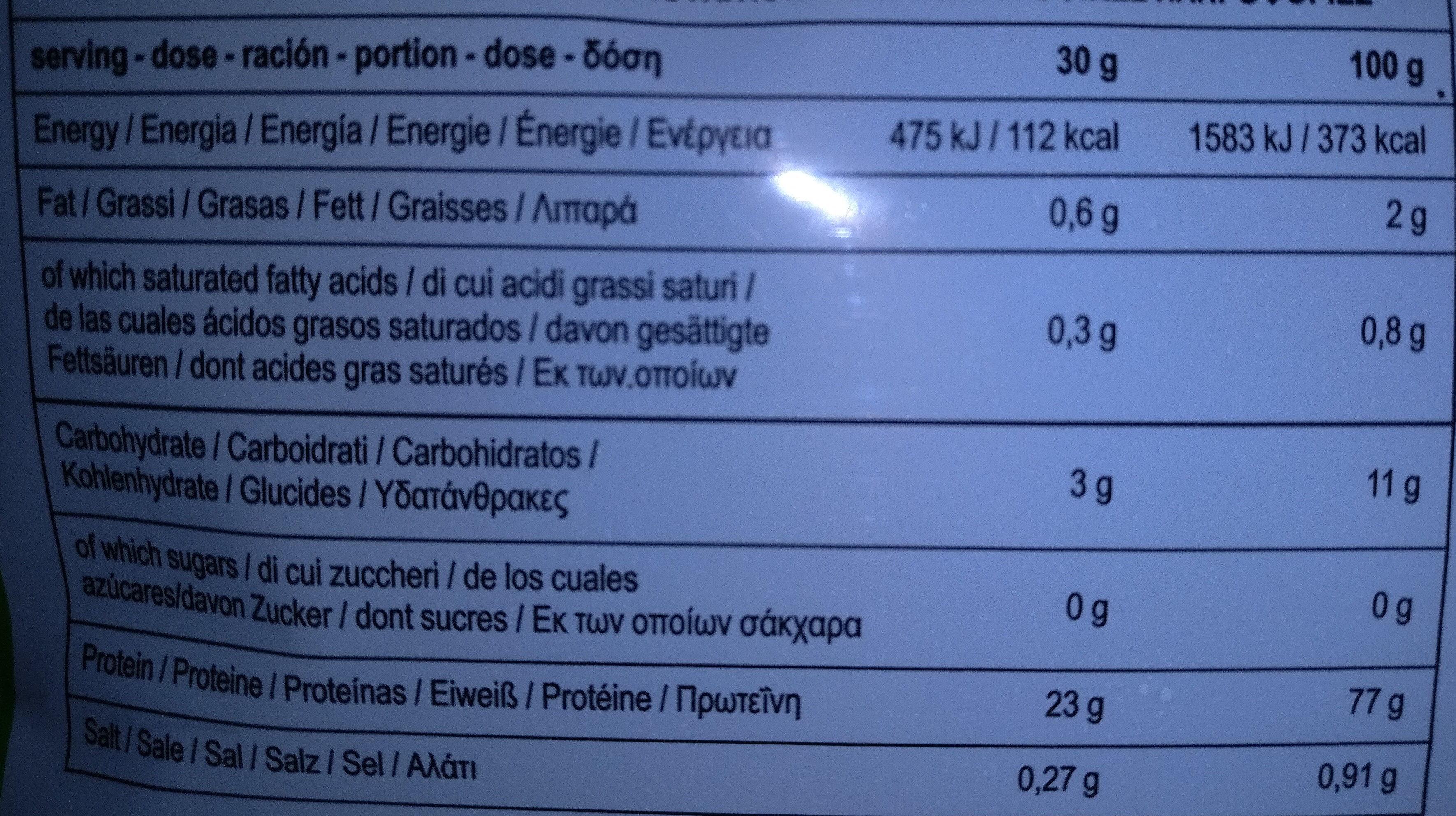 W'hey gusto Chocolate Coconut - Voedingswaarden - it