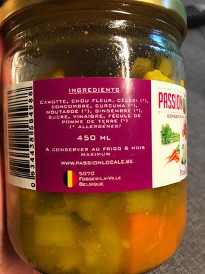 Picallili - Ingrédients - fr