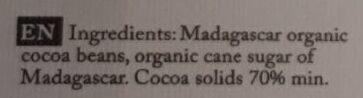 Chocolat Madagascar - Ingredients