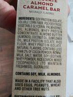 atkins chocolate akmond bars - Ingredients
