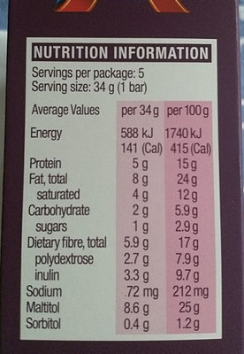 Caramel Nut Chew - Nutrition facts - en