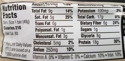 Chocolate Chip Granola Bar - Nutrition facts - en