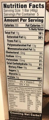 Almond coconut bar - Nutrition facts