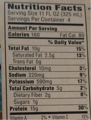 Protein-Rich Shake - Nutrition facts - en