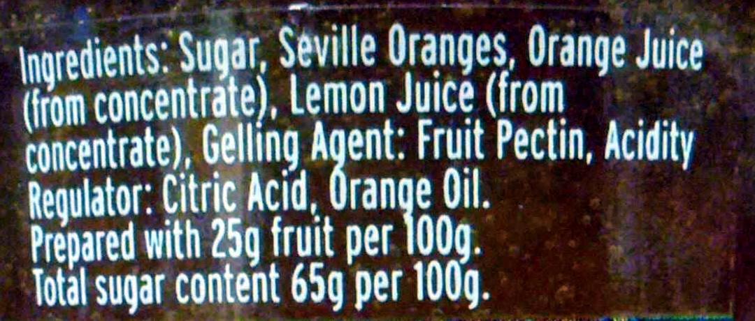 Seville orange Marmalade - Ingrediënten