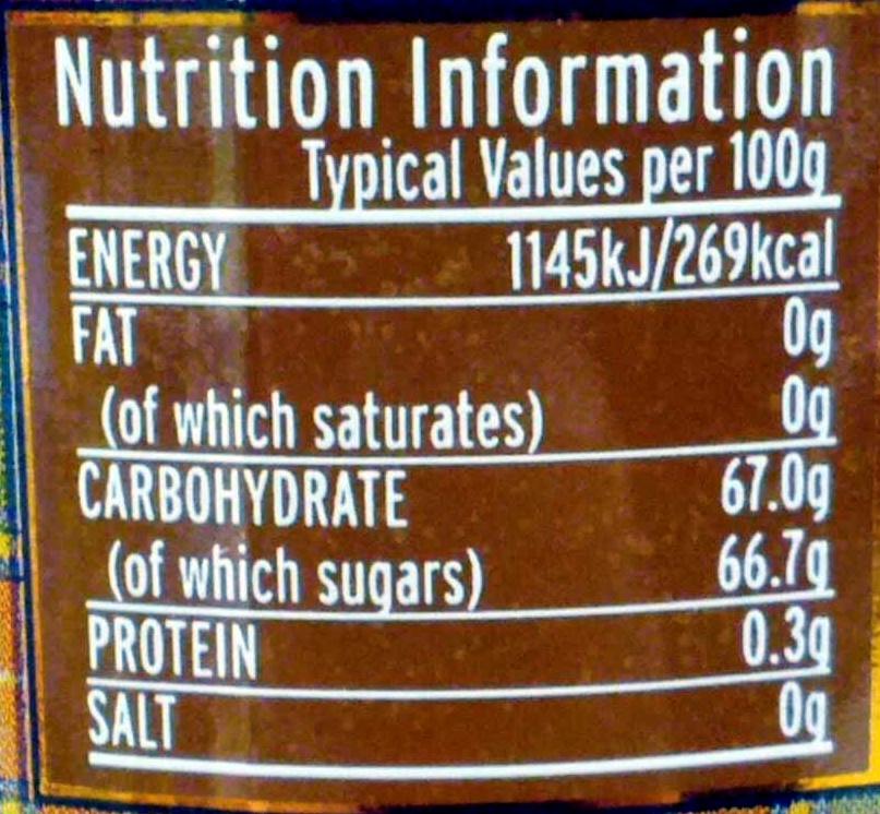 Natural fruit seville orange marmalade - Voedingswaarden - en
