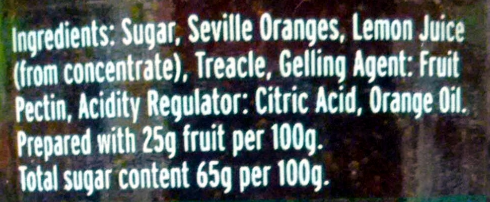 Vintage marmalade - Ingredients - en