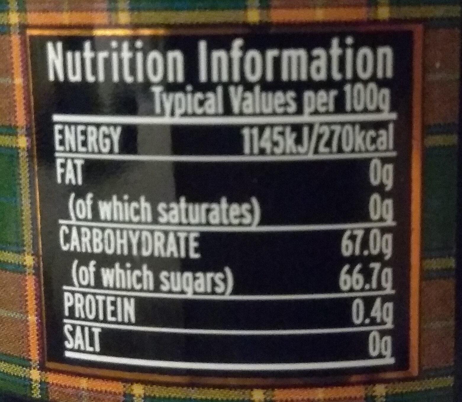 Blkcurrant pres - Nutrition facts - en