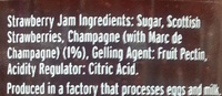 Strawberry Preserve with Champagne - Ingredients