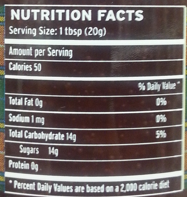 Strawberry Preserve with Champagne - Nutrition facts