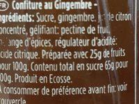 Preserve - Ingrédients - fr