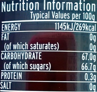The dundee marmalade - Nutrition facts