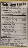 Creamy original chao slices with chao tofu - Nutrition facts - en