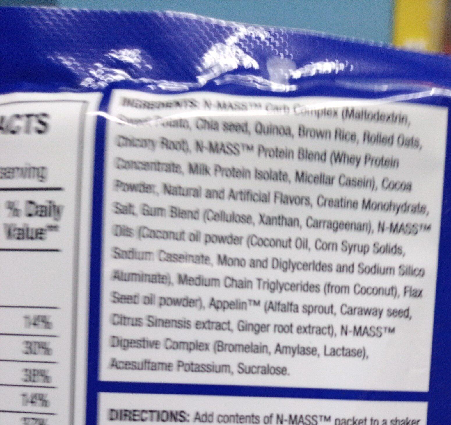 N-Mass - Ingredients