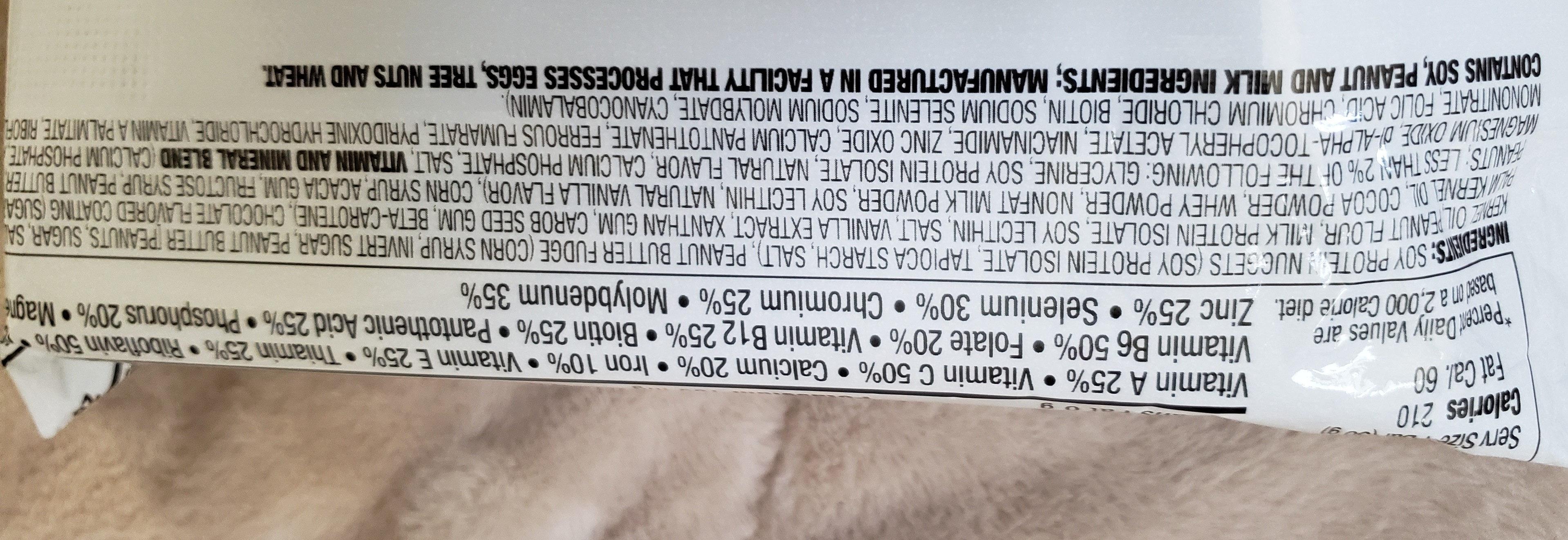 Nutrition Bar, Chocolate Peanut Butter - Ingredients - en