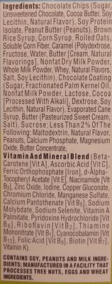 Peanut butter chocolate chip bar - Ingredients - en