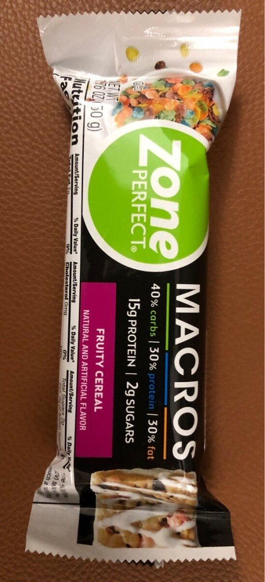 Zone perfect macros fruity cereal bar - Product - en