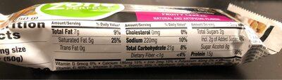 Zone perfect macros fruity cereal bar - Nutrition facts - en