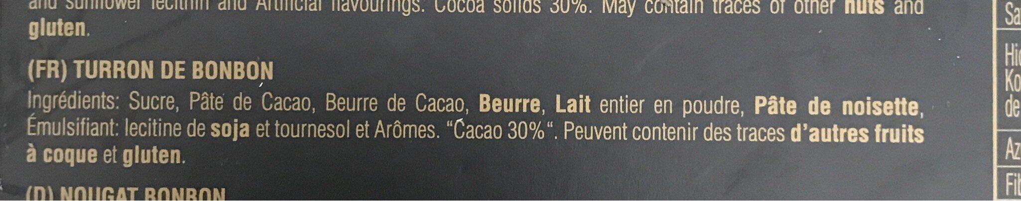 Turrón Bombón - Ingrédients - fr