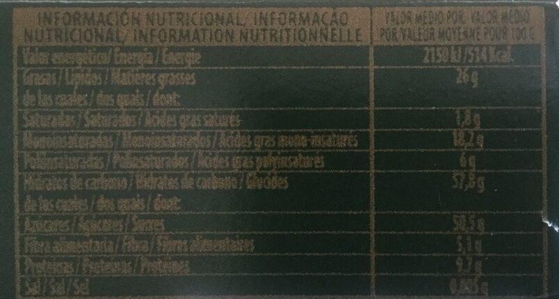 Turron Duro - Nutrition facts
