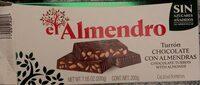 Turrón chocolate con almendras - Product - fr